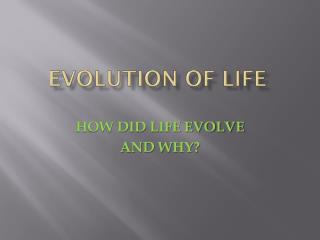 EVOLUTION OF LIFE
