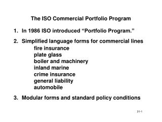 the iso commercial portfolio program