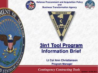 Lt Col Ann Christianson Program Manager