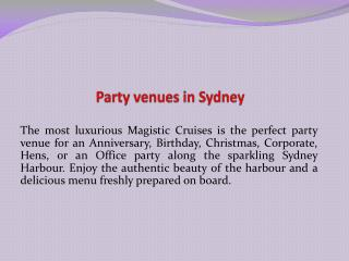 party venues in sydney