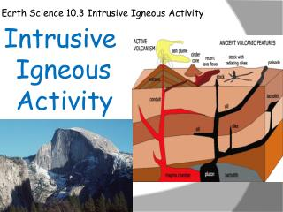 Earth Science 10.3 Intrusive Igneous Activity