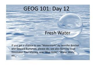 GEOG 101: Day 12