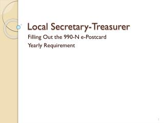 Local Secretary-Treasurer