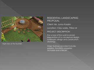 RESIDENTIAL LANDSCAPING PROPOSAL