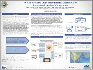 NG-CHC Northern  Gulf Coastal Hazards  Collaboratory Simulation Experiment Integration
