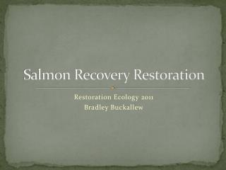 Salmon Recovery Restoration