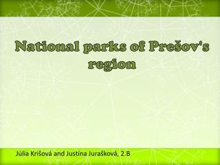 National parks of Pre�ov's region