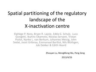Spatial partitioning of the regulatory landscape of the X-inactivation  centre