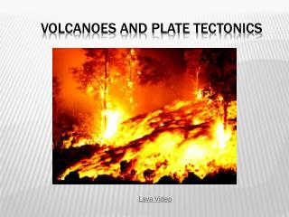 Volcanoes and plate tectonics