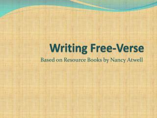 Writing Free-Verse