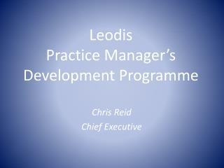 Leodis  Practice Manager's Development Programme