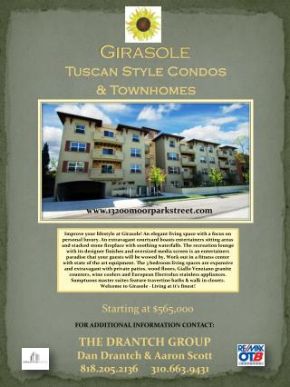 Tuscan Style Condos  & Townhomes