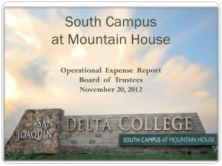 South Campus  at Mountain House