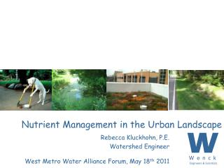 Nutrient Management in the Urban Landscape