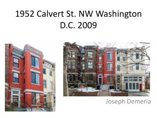 1952 Calvert St. NW Washington D.C. 2009