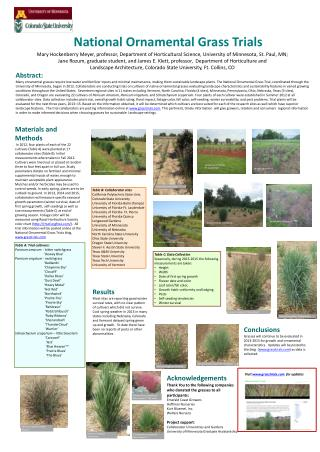 National  Ornamental Grass Trials