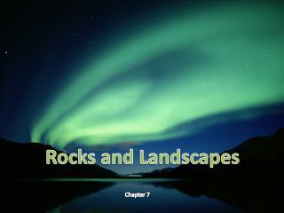 Rocks and Landscapes