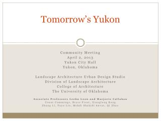 Tomorrow�s Yukon