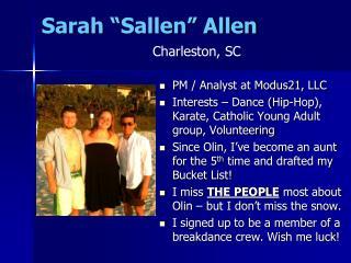 """Sarah """" Sallen """" Allen"""