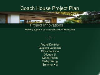 Project Innovations