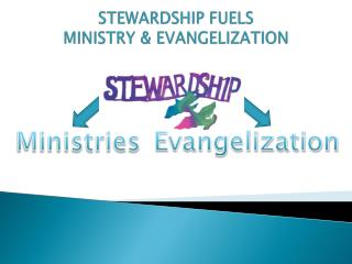 STEWARDSHIP FUELS MINISTRY & EVANGELIZATION
