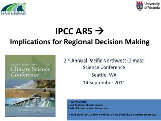 IPCC AR5    Implications for Regional Decision Making