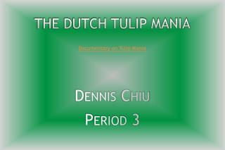 The Dutch Tulip Mania
