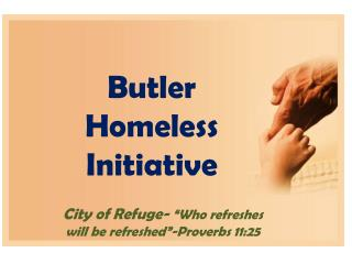 "City of Refuge-  ""Who refreshes will be refreshed""-Proverbs 11:25"