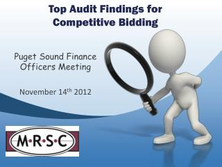 Top Audit Findings for  Competitive Bidding