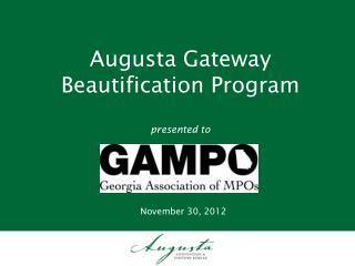 Augusta Gateway Beautification Program presented to