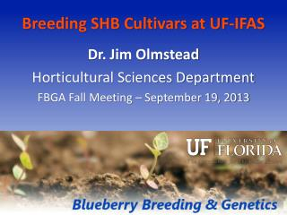 Breeding SHB Cultivars at UF-IFAS