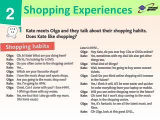 Shopping Experiences
