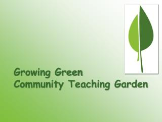 Growing Green  Community Teaching Garden