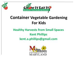Container  Vegetable Gardening For Kids
