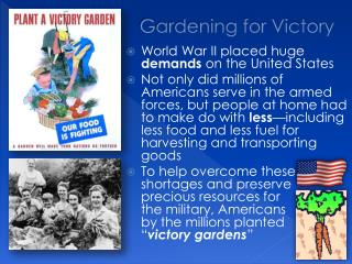 Gardening for Victory