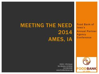 meeting the need 2014 Ames, IA
