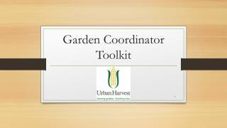 Garden Coordinator Toolkit