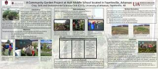 A Community Garden Project at Holt Middle School located in Fayetteville, Arkansas