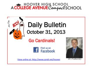 Daily Bulletin October  31,  2013