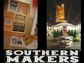 Over 50 volunteers spent the day transforming the train shed for Southern Makers