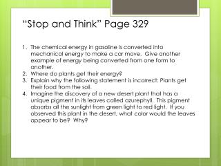 """Stop and Think"" Page 329"