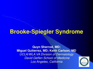 brooke-spiegler syndrome