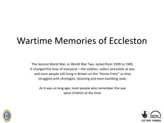 Wartime Memories of Eccleston