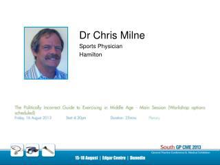 Dr Chris Milne Sports Physician Hamilton