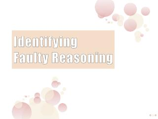 Identifying Faulty Reasoning