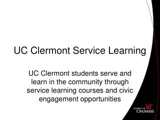 UC Clermont Service Learning