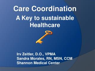 Care Coordination A Key to sustainable Healthcare