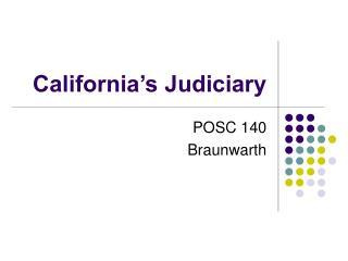 california s judiciary