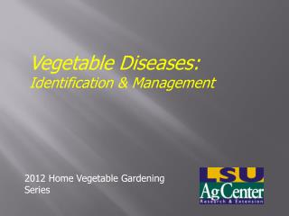 Vegetable Diseases:  Identification & Management
