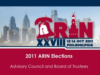 2011 ARIN Elections